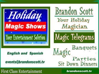 Holiday Entertainment Magic Shows English and Spanish